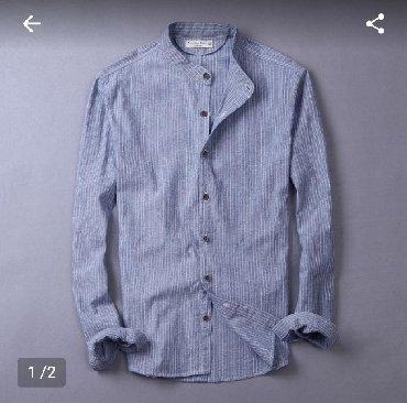 голубая рубашка мужская в Кыргызстан: Мужские рубашки