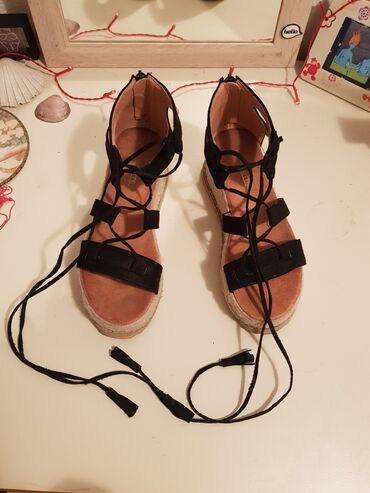 Sandale - rimljanke od velura: Rimljanke/apostolke/špagerice na
