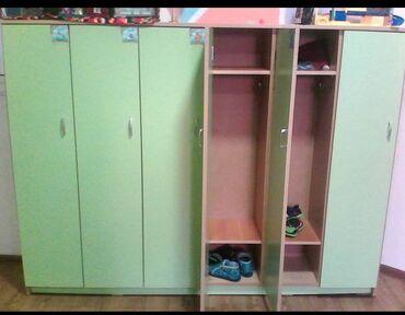 Шкафчики для одежды для детского сада (6 секц )Шкаф для одежды (10