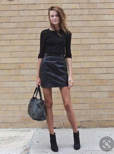 Продаю абсолютно новую кожаную мини юбку. Юбка из натуральной кожи экс