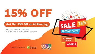 Get Flat 15% Off on Linux single Domain Hosting: Launch your online