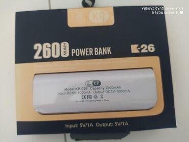 Powerbank 2600mah yeni samsung ayfon ucun gedir bir der dolduru