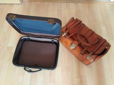 Ostalo | Petrovac na Mlavi: STARI kožni kofer i kažna torba za ljubitelje starina, a može i za