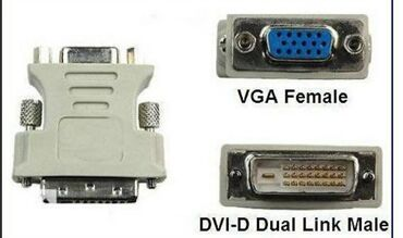 переходник в Кыргызстан: Переходник DVI-VGA аналоговый. Новый