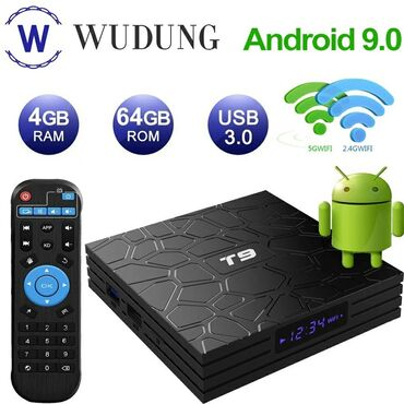 android tv box - Azərbaycan: Tv box t9 android smart tv box ip original android smart tv box 4k