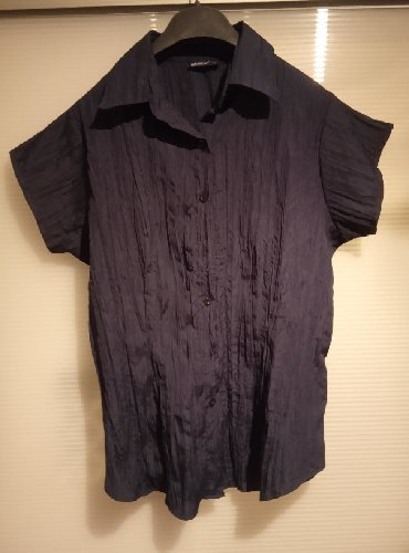 Okay košulja, vel. 44.Pamuk, šuškav materijal.Teget boja.Bez