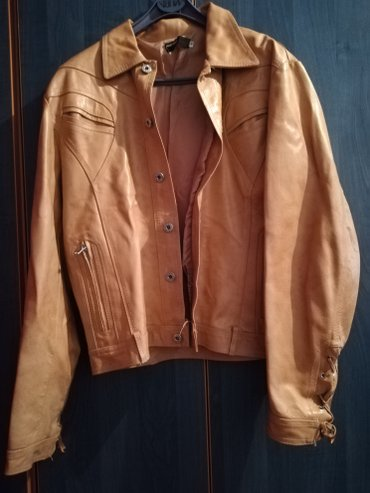 Italijanska-kozna-crna-jakna - Srbija: Italijanska kozna jakna. Nikad nosena,kao nova.Velicina M