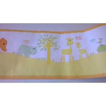 Μπορντούρα αυτοκόλλητο τοίχου happy hippo Η μπορντούρα έχει κοπεί και