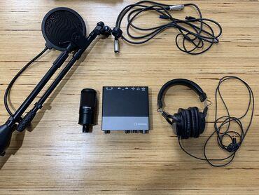 5133 объявлений: Микрофон + звуковая карта + наушники + стойка + поп фильтр. Идёт в