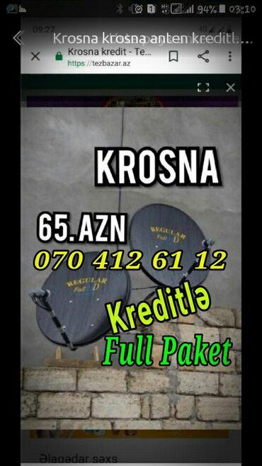 Krosna Kredit 5 Ay 20 AZN Şok Endirim   krosna antena kreditle quraşdı