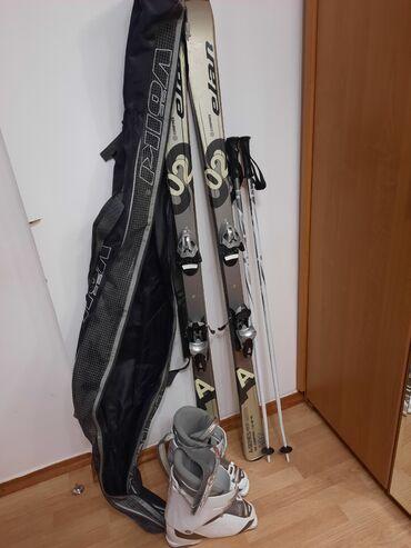 Лыжи - Кыргызстан: Продаю лыжи, ботинки,палки,чехол, б/у, в хорошем состоянии. Лыжи 160