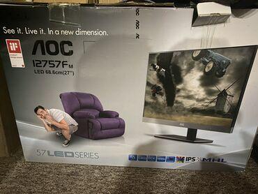 продам нов в Кыргызстан: В связи с отъездом цена стала ниже ! Продам монитор 27 дюймов,новый! В