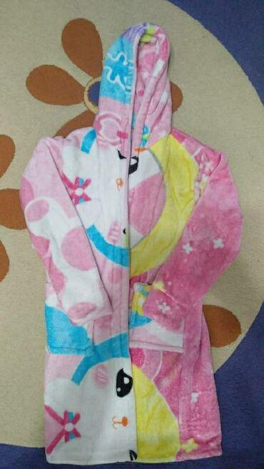 брендовые одежды в Кыргызстан: Банный халат на девочку 8-10 летТеплая мягкая пенка, идеальное