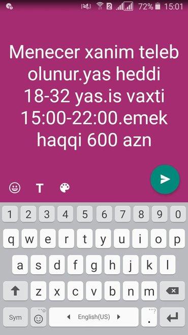 Bakı şəhərində Isci teleb olunur