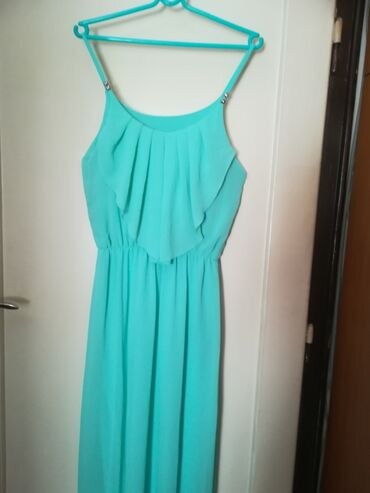 Duga leprsava haljina - Crvenka: Dugacka haljina vel M