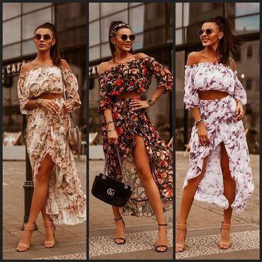 Sako crne boje - Srbija: Dvodelna cvetna haljina NOVO SA ETIKETOM!* Nova Kolekcija*Dostupne