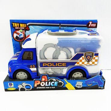 рация бишкек in Кыргызстан | УСИЛИТЕЛИ И ПРИЕМНИКИ: Машинка полицейская игрушка.Целый набор для мальчика!!Это машинка