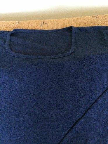 Cipkana plava bluza, veličina 38, rastegljiva, rukav 60cm, jednom - Velika Plana
