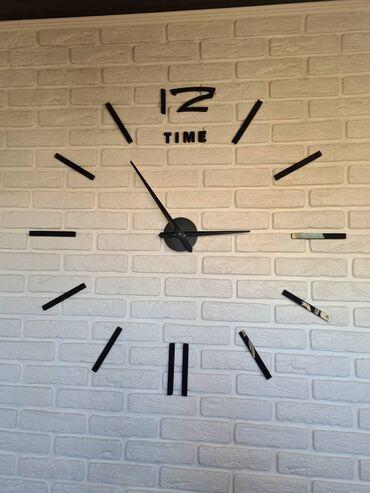 3D, 3Д, настенные большие часы от 60 см до 120 см в диаметре, на батар