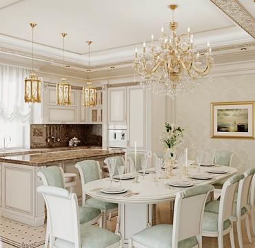 Дизайн классической кухни. Проект в Бишкек
