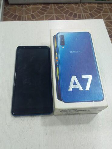 Samsung Galaxy A7 2018   128 GB   göy   Sensor, Barmaq izi, Face ID