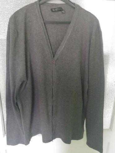 Muška odeća | Bor: Muski dzemper, pulover sa dugmicima na kopcanje sive boje, marke