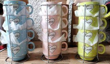Stalak - Srbija: Cena 999 din 4 šoljice za kafu + zicani stalak