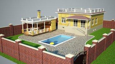 Bakı şəhərində Müştərimizə hazırladığımız 3d formatda bağ evinin görüntüsü.