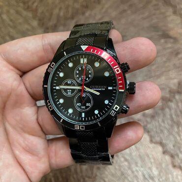 часы-и-нож в Кыргызстан: Черные Мужские Наручные часы Curren