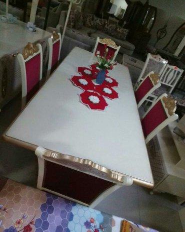 Bakı şəhərində Masa ve oturacaqlar,catdirilma ile birlikde,olcu 240x110x79