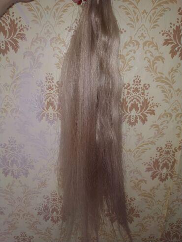 Другое - Кыргызстан: Срочно продаю волосы блонд 180 капсул 50 см 10уровень блонд