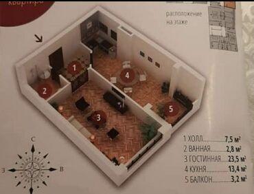Продажа квартир - Бишкек: Элитка, 1 комната, 50 кв. м Бронированные двери, Лифт, Парковка