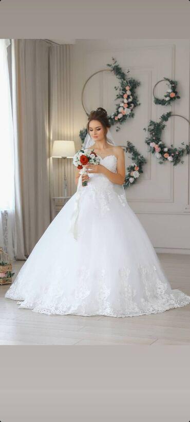свадебные платья in Кыргызстан   МАТЕРИНСКИЕ ПЛАТЫ: Продаю свадебное платье. Состояние идеальное. Чистое. Цвет платья -