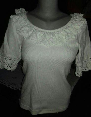 Bela pamucna majica ...M - Loznica