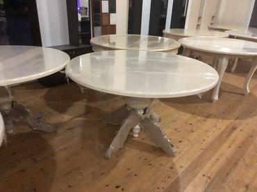 Yevlax şəhərində Tumbalı ayaqlı masalar 120 sm. Dıaganalı