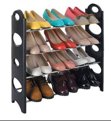 Stalak - Srbija: Praktičan stalak za obućuPolice u 4 nivoaDo 12 pari Dimenzije: 65 x 65
