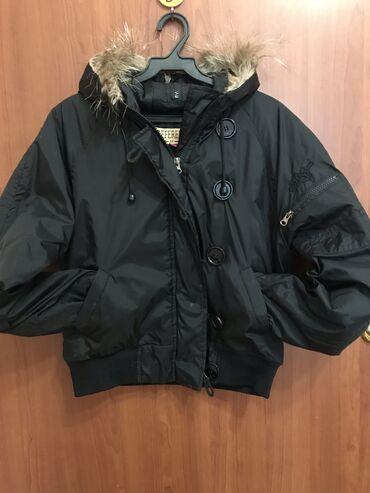 платья рубашки оверсайз в Кыргызстан: Чёрная курточка в стиле оверсайз
