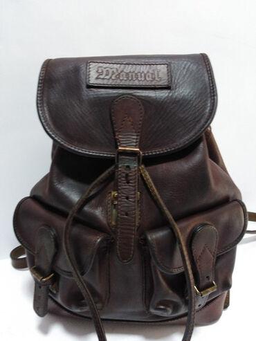 Manual torba - Srbija: MANUAL veliki kožni ranac, prirodna kvalitetna vrhunska 100%koža