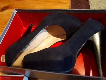 Продаю туфли замш темно синие 1000 сом. в Бишкек