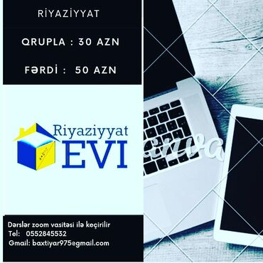 Təlim, kurslar - Azərbaycan: Repetitor | Riyaziyyat | İmtahanlara hazırlıq