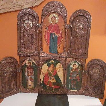 Ostali kućni dekor - Srbija: Triptihon, radjen u bakru i mesingu.Rucni rad.Krila se mogu