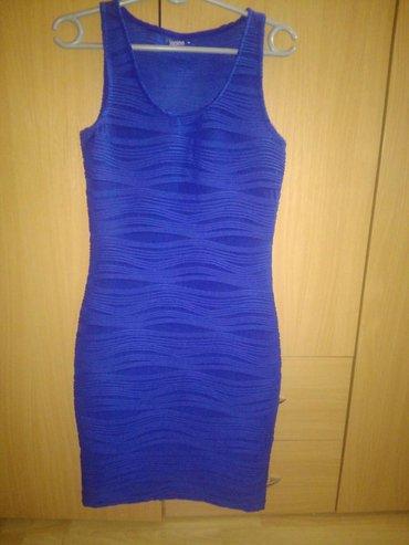Plava haljina, jednom nosena. Kao nova. Velicina S, moze i m. Uska, uz - Belgrade
