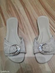 Ženska obuća | Futog: Letnje krem papuce,ocuvane velicina 38