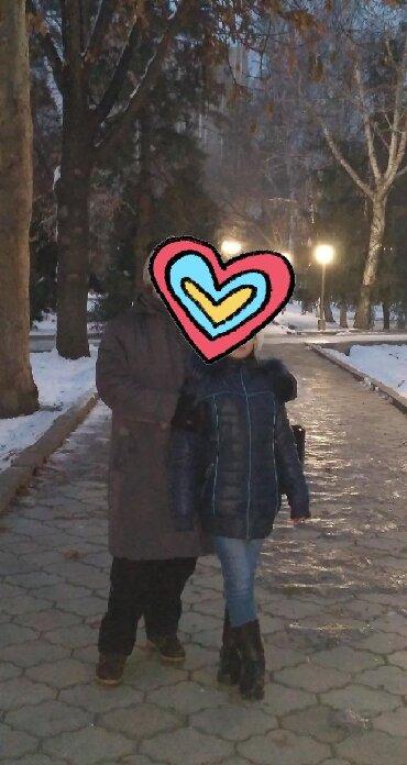Верхняя одежда в Кыргызстан: Куртка зимняя синего цвета Очень теплая  Размер М на девочку 9-11 лет
