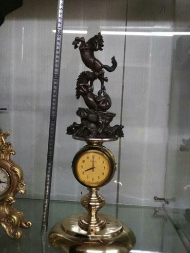 Часы, Бронза, статуэтка Лошади влюблёная пара в Бишкек