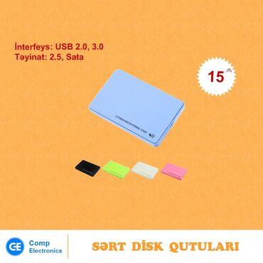 """lider disk - Azərbaycan: Sərt disk qutuları """"2.5, Sata""""USB 2.0 - 15 AZNUSB 3.0 - 20 AZNÜnvan"""