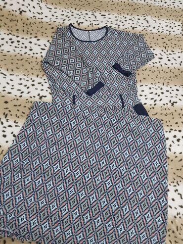 летнее платье свободного кроя в Кыргызстан: Летнее платье нашего производителя, получили в подарок, не одевали ни