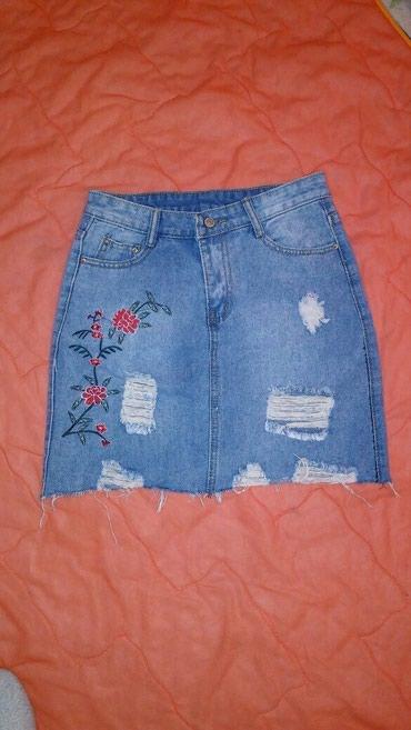 Юбка джинсы на худенькую девушку,состояние отличное,300 сом в Бишкек