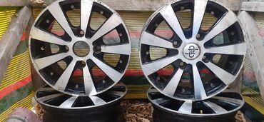 шины 13 радиус бу в Кыргызстан: Продаю титановые диски на 13матиз 8000сом коплект