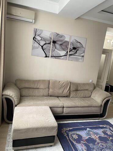 dva divan kresla в Кыргызстан: Продаётся диван б/у. Длина 2.70. В отличном состоянии, только